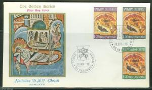 VATICAN CITY SCOTT#458/60  FIRST DAY COVER