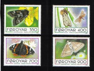 Faroe Islands 1993 butterflies and moths  complete