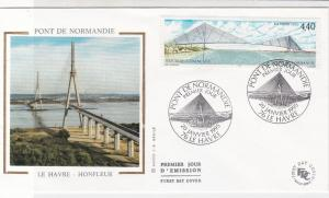 France 1995 Bridge of Normandy Picture Slogan Cancels + Stamp FDC Cover Rf 31647