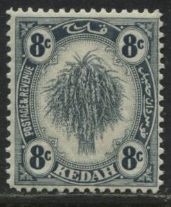 Kedah 1936 8 cents gray mint o.g.