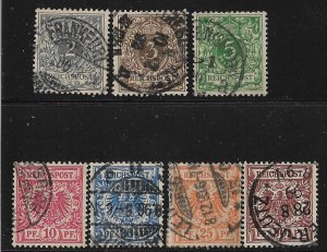 1889-1900 Germany 45-51 complete general issue set of 7 used