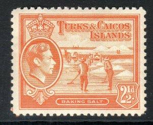 TURKS & CAICOS-,,,1938-45...SG 199a  .. 2 1/2d    LMM  cv £6