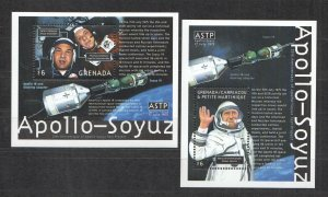 QE0152 GRENADA SPACE 25TH ANNIVERSARY OF APOLLO-SOYUZ 2BL MNH