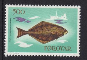 Faroe Islands 1983 MNH fishes  500 ore    #