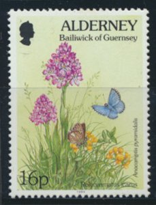 GB Alderney  SG A70 MNH  16p Common Blue Butterfly 1994 SC# 80 See scan