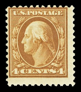 Scott 503 1917 4c Brown Washington Mint Fine OG NH Cat $19