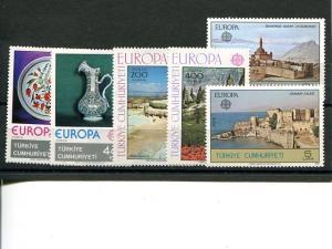 Turkey  Europa lot 1976-78 VF NH