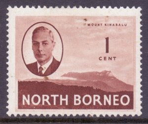 North Borneo Scott 244 - SG346, 1950 George VI 1c MH*