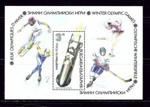 Bulgaria 3633 MNH 1991 Winter Olympics S/S