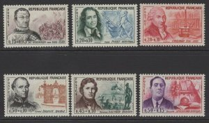 FRANCE SG1525/30 1961 RED CROSS FUND MNH