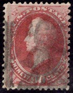US Stamp Scott #155 90c Carmine Perry Used SCV $325