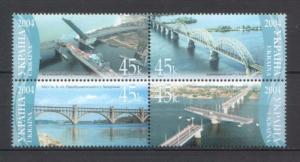 Ukraine 2004 Architecture Bridges 4 MNH stamps