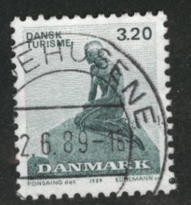 DENMARK  Scott 865 Little Mermaid stamp  Canceled 1989