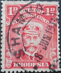 Rhodesia Admiral One Penny with SHAMVA (DC) postmark