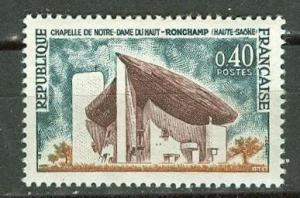 France # 1101 Chapel of Norre Dame, Ronchamp (1) Mint NH