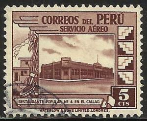 Peru Air Mail 1938 Scott# C49 Used