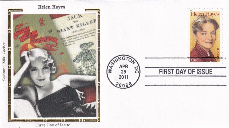 2011, Honoring Helen Hayes, Colorano Silk, FDC (E11872)