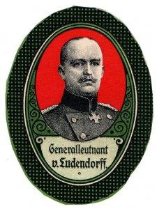 (I.B-CK) Germany (Great War) Cinderella : General Erich von Ludendorff
