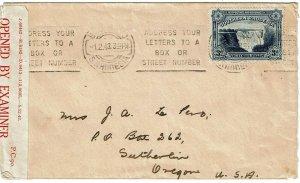 Southern Rhodesia 1943 Bulawayo slogan cancel on cover to the U.S., censored
