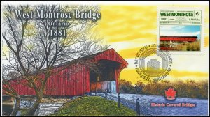 CA19-038, 2019, Historic Covered Bridges, Pictorial Postmark, First Day Cover,