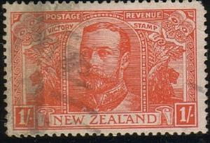 NEW ZEALAND 1920 Victory 1/- used. ACS cat $90 - .........................72504