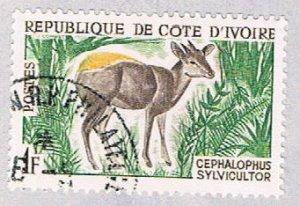 Ivory Coast 201 Used Yellow backed Duiker 1963 (BP37425)