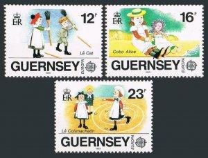 Guernsey 401-403,MNH.Michel 449-451. EUROPE CEPT-1989.Children's toys,games.