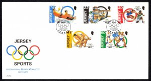 Jersey Sc# 676-680 FDC 1994 6.6 Olympics 100th