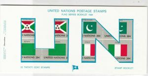 United Nations Mint Never Hinged Flags Stamps Booklet ref R 18468