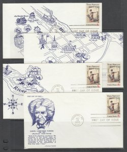 US Planty 1470-J-R FDC. 1972 Tom Sawyer by Norman Rockwell, Coulson FIRST CACHET