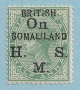 SOMALILAND PROTECTORATE O1 OFFICIAL MINT NEVER HINGED OG ** NO FAULTS VERY FINE!