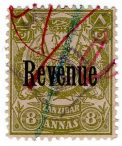 (I.B) Zanzibar Revenue : Duty Stamp 8a