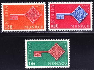 Monaco Scott 689-691  complete set  VF mint OG NH.