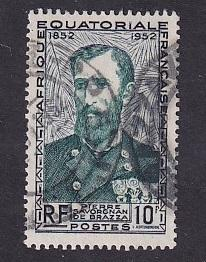 French Equatorial Africa   #185  used  1951  de  Brazza