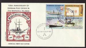 Marshall Islands 229a German PO U/A FDC