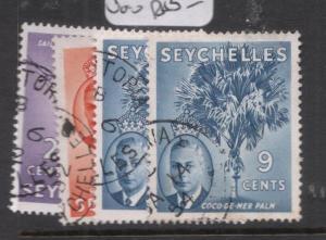 Seychelles SG 158-60 + 160 Shade VFU (2dnl)