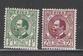 Ireland Sc 124-5 1943 Gaelic League stamps mint