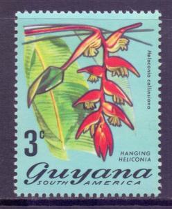 Guyana Scott 135, 1971 Flowers 3c MH*