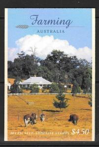 AUSTRALIA SGSB122 1998 FARMING BOOKLET MNH