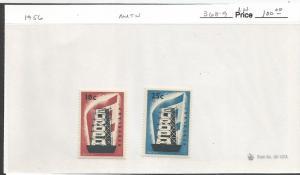 NETHERLANDS 1956 368-69 MOG EUROPA
