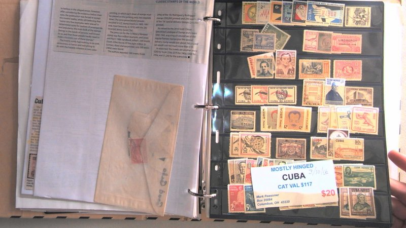 CUBA COLLECTION IN ALBUM, MINT/USED