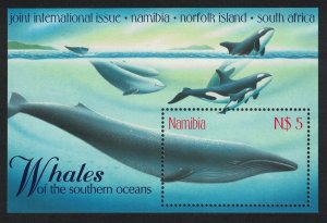 Namibia WWF-related Whales MS 1998 MNH SC#919 SG#MS819
