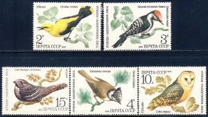 Russia MNH 4776-80 Birds 1979