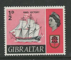 Gibraltar - Scott 186 - QEII Definitive Issue -1967- MLH - Single 1/2d Stamp