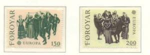 Faroe Islands Sc 63-4 1981 Europa stamp set mint NH