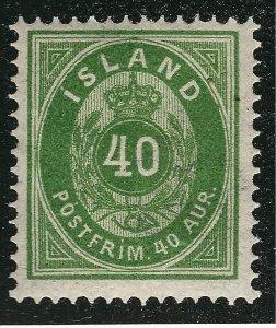 Iceland Vibrant Sc#14 Mint OG Hinged VF SCV $110...powerful bargain!!