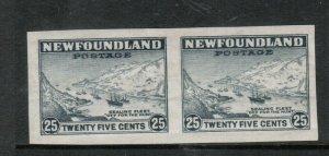 Newfoundland #197a Extra Fine Mint Imperf Pair Original Gum Hinged