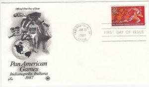1987, Pan American Games, Artcraft/PCS, FDC (D13764)