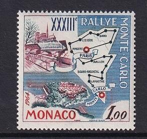 Monaco  #549    MNH  1963  33rd rally of Monte Carlo