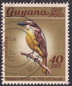 Guyana 1968 QE2 40ct Great Kiskadee Used SG 457 ( F1069 )